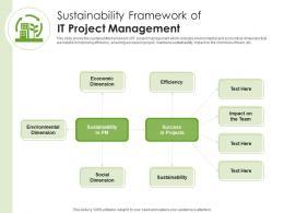 Sustainability Framework Of IT Project Management