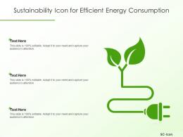 Sustainability Icon For Efficient Energy Consumption