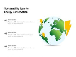 Sustainability Icon For Energy Conservation