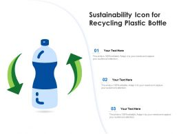 Sustainability Icon For Recycling Plastic Bottle