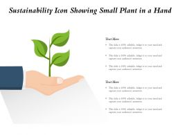 Sustainability Icon Showing Small Plant In A Hand