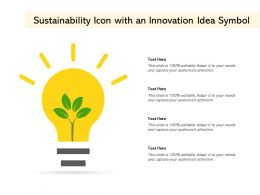 Sustainability Icon With An Innovation Idea Symbol