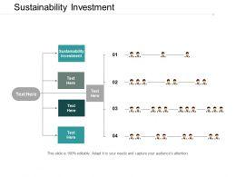 Sustainability Investment Ppt Powerpoint Presentation Portfolio Mockup Cpb