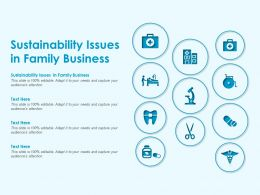 Sustainability Issues In Family Business Ppt Powerpoint Presentation Infographic Template