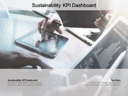 Sustainability KPI Dashboard Ppt Powerpoint Presentation Infographic Template Professional Cpb