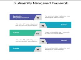 Sustainability Management Framework Ppt Powerpoint Presentation Slides Elements Cpb