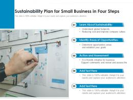 Sustainability Plan For Small Business In Four Steps
