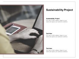 Sustainability Project Ppt Powerpoint Presentation Icon Model Cpb