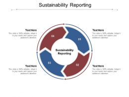 Sustainability Reporting Ppt Powerpoint Presentation Layouts Icon Cpb