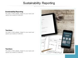Sustainability Reporting Ppt Powerpoint Presentation Styles Templates Cpb