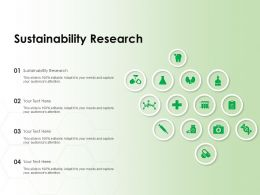 Sustainability Research Ppt Powerpoint Presentation Styles Icons