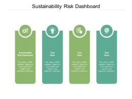 Sustainability Risk Dashboard Ppt Powerpoint Presentation Styles Vector Cpb