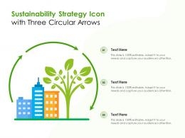Sustainability Strategy Icon With Three Circular Arrows