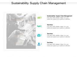 Sustainability Supply Chain Management Ppt Powerpoint Presentation Infographics Topics Cpb