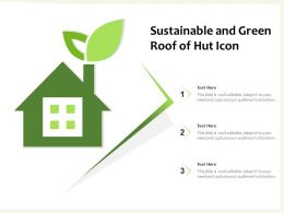 Sustainable And Green Roof Roof Of Hut Icon