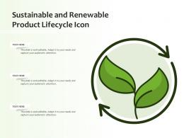 Sustainable And Renewable Product Lifecycle Icon