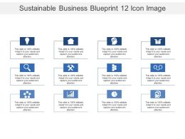 Sustainable Business Blueprint 12 Icon Image