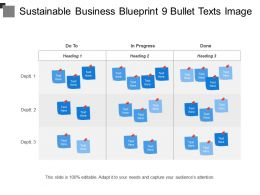 Sustainable Business Blueprint 9 Bullet Texts Image