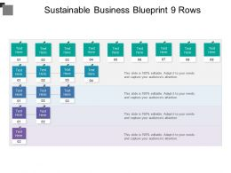 Sustainable Business Blueprint 9 Rows