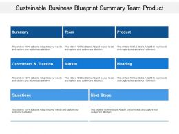 Sustainable Business Blueprint Summary Team Product