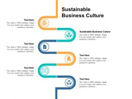 Sustainable Business Culture Ppt Powerpoint Presentation Infographics Example File Cpb