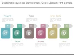 Sustainable Business Development Goals Diagram Ppt Sample