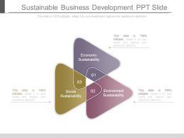 Sustainable Business Development Ppt Slide