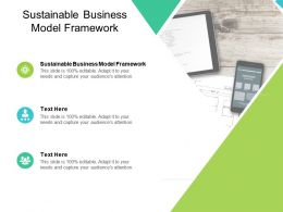 Sustainable Business Model Framework Ppt Powerpoint Presentation Styles Cpb