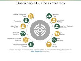 Sustainable Business Strategy Powerpoint Slide