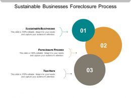 Sustainable Businesses Foreclosure Process Business Crisis Management Plan Cpb