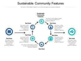 Sustainable Community Features Ppt Powerpoint Presentation Slides Ideas Cpb