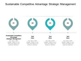 Sustainable Competitive Advantage Strategic Management Ppt Powerpoint Outline Cpb