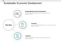 Sustainable Economic Development Ppt Powerpoint Presentation Inspiration Example Cpb
