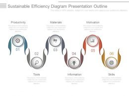 Sustainable Efficiency Diagram Presentation Outline