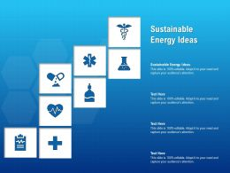 Sustainable Energy Ideas Ppt Powerpoint Presentation Inspiration Graphics