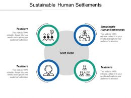 Sustainable Human Settlements Ppt Powerpoint Presentation Ideas Portfolio Cpb