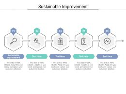Sustainable Improvement Ppt Powerpoint Presentation Summary Gallery Cpb