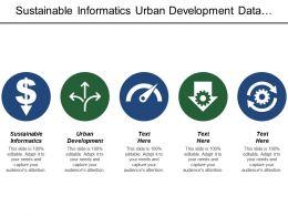 Sustainable Informatics Urban Development Data Revolution Development Finance