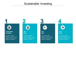 Sustainable Investing Ppt Powerpoint Presentation Example 2015 Cpb