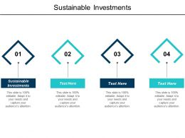 Sustainable Investments Ppt Powerpoint Presentation Model Slide Cpb