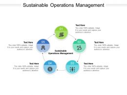 Sustainable Operations Management Ppt Powerpoint Presentation Layouts Ideas Cpb