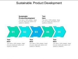 Sustainable Product Development Ppt Powerpoint Presentation Inspiration Outfit Cpb