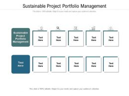 Sustainable Project Portfolio Management Ppt Powerpoint Presentation Inspiration Cpb