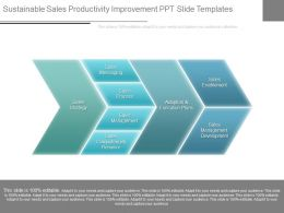 Sustainable Sales Productivity Improvement Ppt Slide Templates