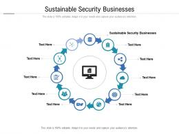 Sustainable Security Businesses Ppt Powerpoint Presentation Model Example Topics Cpb