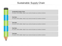Sustainable Supply Chain Ppt Powerpoint Presentation Show Designs Download Cpb
