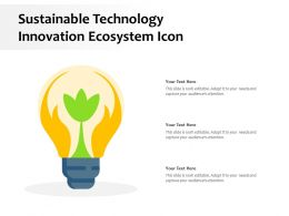 Sustainable Technology Innovation Ecosystem Icon