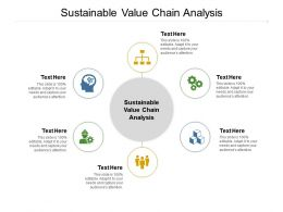 Sustainable Value Chain Analysis Ppt Powerpoint Presentation Styles Maker Cpb