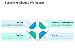 Sustaining Change Workplace Ppt Powerpoint Presentation Templates Cpb