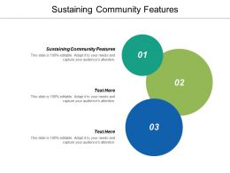 Sustaining Community Features Ppt Powerpoint Presentation Infographics Graphics Cpb